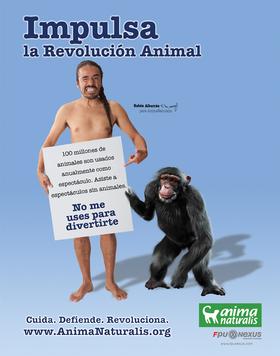 Rubén Albarrán, vocalista de Café Tacuba, en campaña de AnimaNaturalis por la defensa de todos los animales.