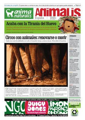 Número 6, año 2 de Animalis, el periódico de AnimaNaturalis. Animalis es el nuevo periódico trimestral de AnimaNaturalis. Compuesto por 16 páginas a todo color, se editaron 20.000 copias distribuídas por las ciudades más importantes de España.