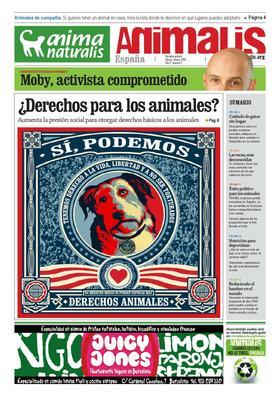Número 5, año 2 de Animalis, el periódico de AnimaNaturalis. Animalis es el nuevo periódico trimestral de AnimaNaturalis. Compuesto por 16 páginas a todo color, se editaron 20.000 copias distribuídas por las ciudades más importantes de España.