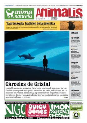 Número 8, año 2 de Animalis, el periódico de AnimaNaturalis. Animalis es el nuevo periódico trimestral de AnimaNaturalis. Compuesto por 16 páginas a todo color, se editaron 20.000 copias distribuídas por las ciudades más importantes de España.
