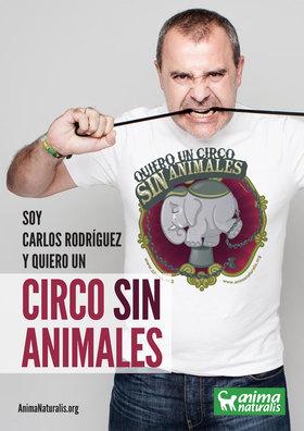 """El locutor de radio Carlos Rodríguez dice """"Yo Quiero Un Circo Sin Animales""""."""