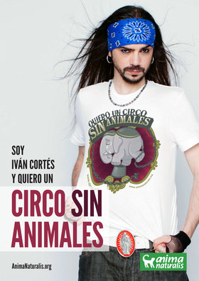 """El locutor de radio Iván Cortés dice """"Yo Quiero Un Circo Sin Animales""""."""
