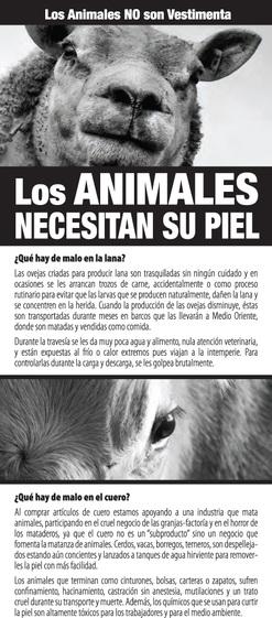 Los Animales Necesitan Su Piel (México)