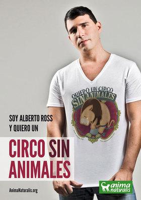El trovador urbano del romance se suma a la campaña Circo Sin Animales