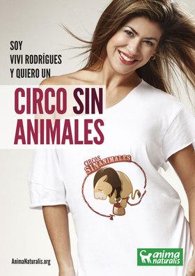 """La bailarina Vivi Rodrígues dice """"Yo Quiero Un Circo Sin Animales""""."""