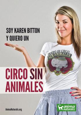 """La animadora más ecológica de la televisión venezolana y una de las voces más destacada en todo el continente  se une a la campaña """"Yo Quiero Un Circo Sin Animales"""" de AnimaNaturalis"""