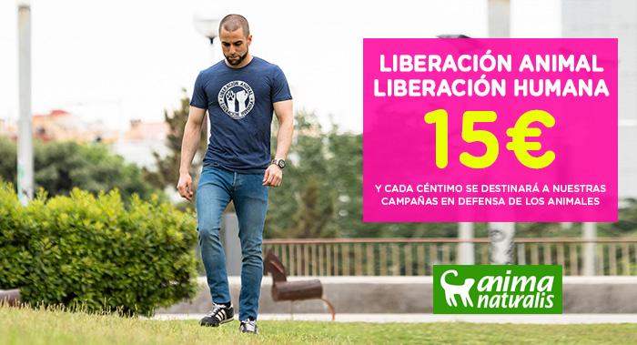 Camiseta - Liberación Animal Liberación Humana
