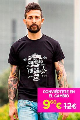 Camiseta - Conviertete en el Cambio que Quieres Ver en el Mundo - Hombre