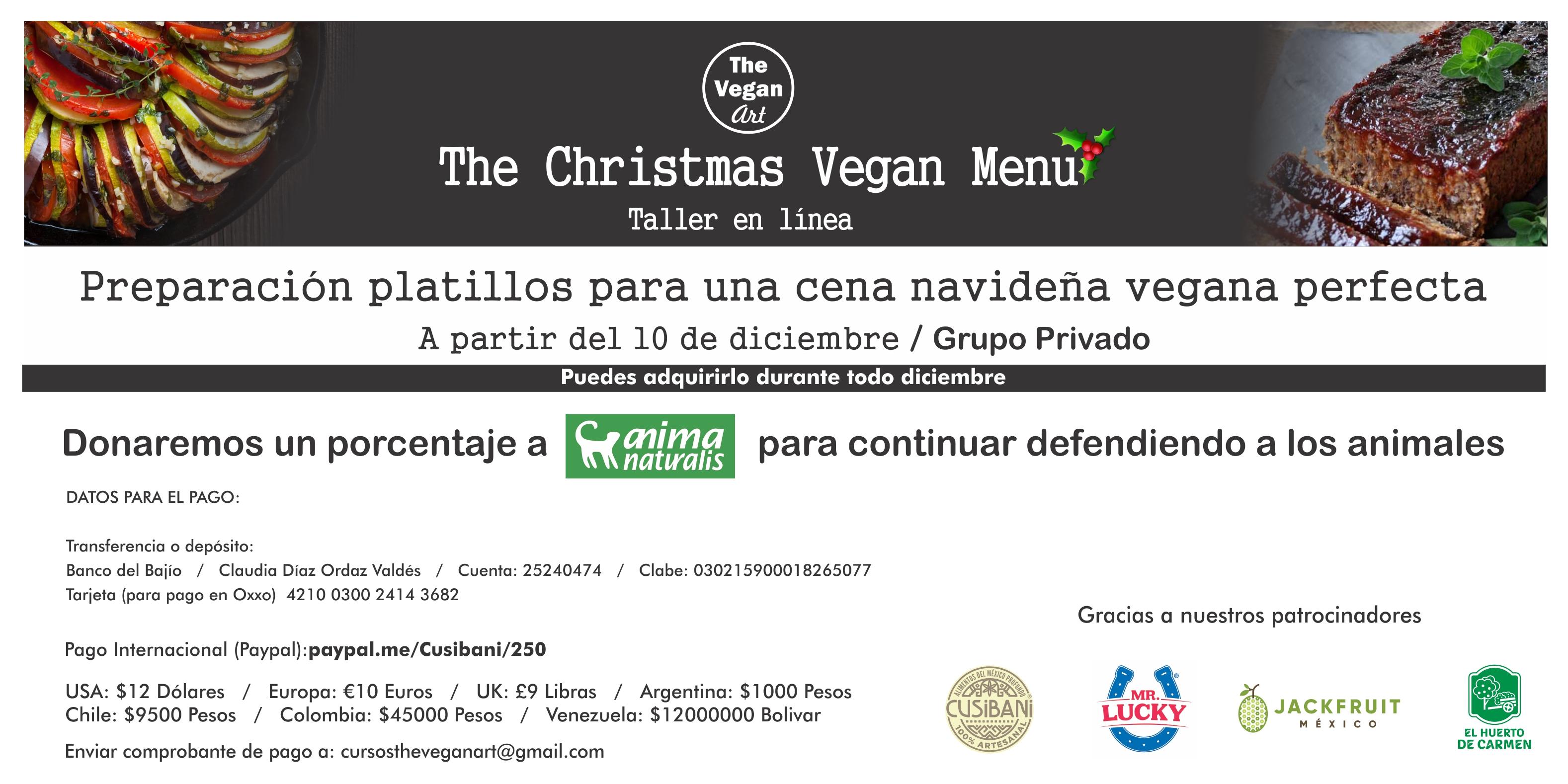 ¡Inscríbete al taller de The Vegan Art y haz tu cena navideña vegana!