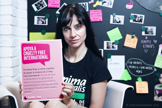 Beatriz Rico se une a The Body Shop, AnimaNaturalis y Cruelty-Free International contra las pruebas en animales