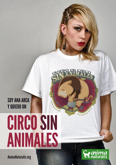 Ana Arca se une a la campaña Yo Quiero Un Circo Sin Animales