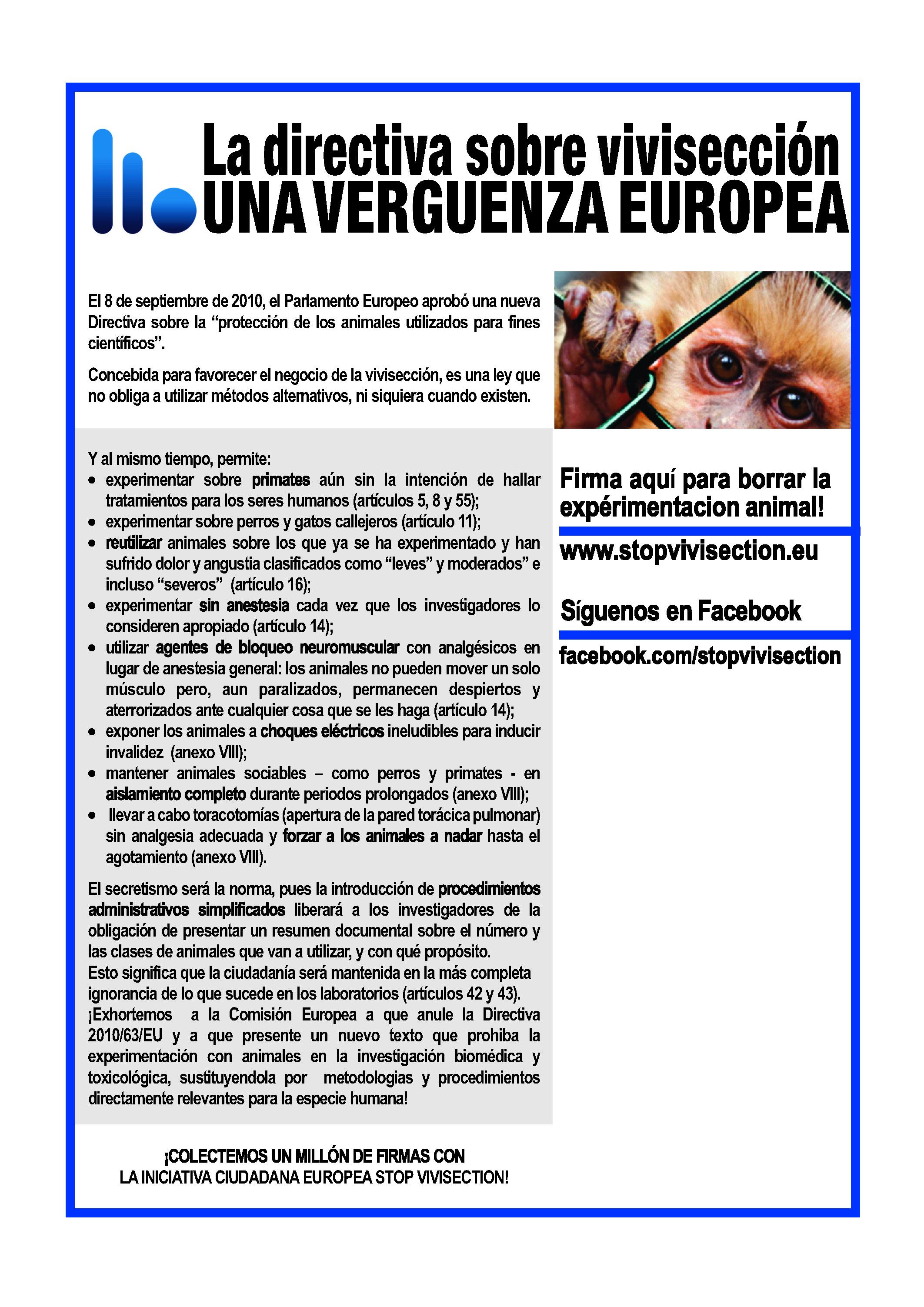 Ayúdanos a acabar con la vivisección, ¡firma ya!