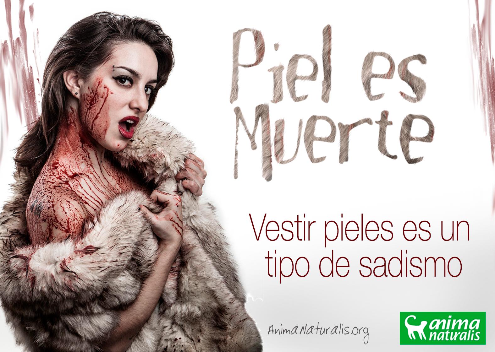 AnimaNaturalis muestra su repudio a las pieles en Argentina