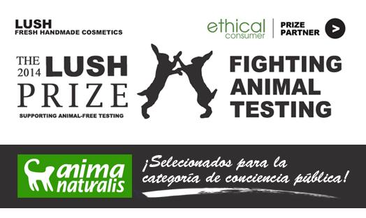 ¡AnimaNaturalis finalista en el LUSH PRIZE!