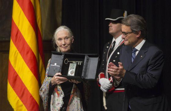 La primatóloga Jane Goodall recibe el Premi Internacional de Catalunya