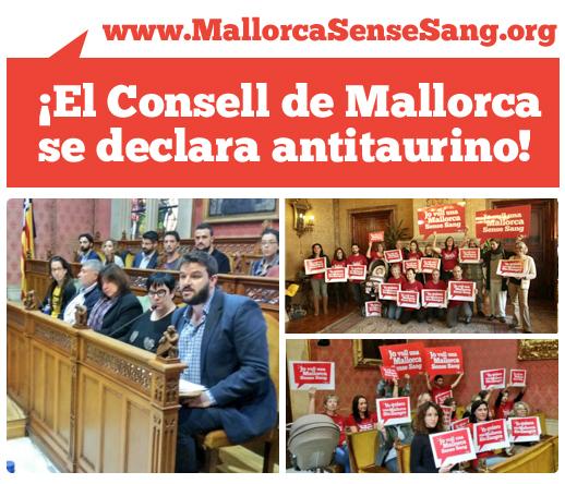 ¡Avanzando! El Consell de Mallorca declara la institución antitaurina