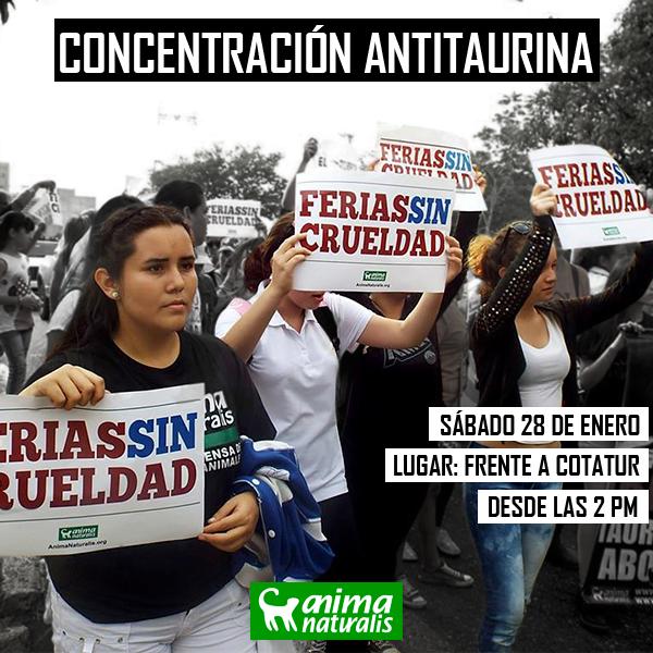 Participa en la Manifestación por Ferias Sin Crueldad en San Cristóbal
