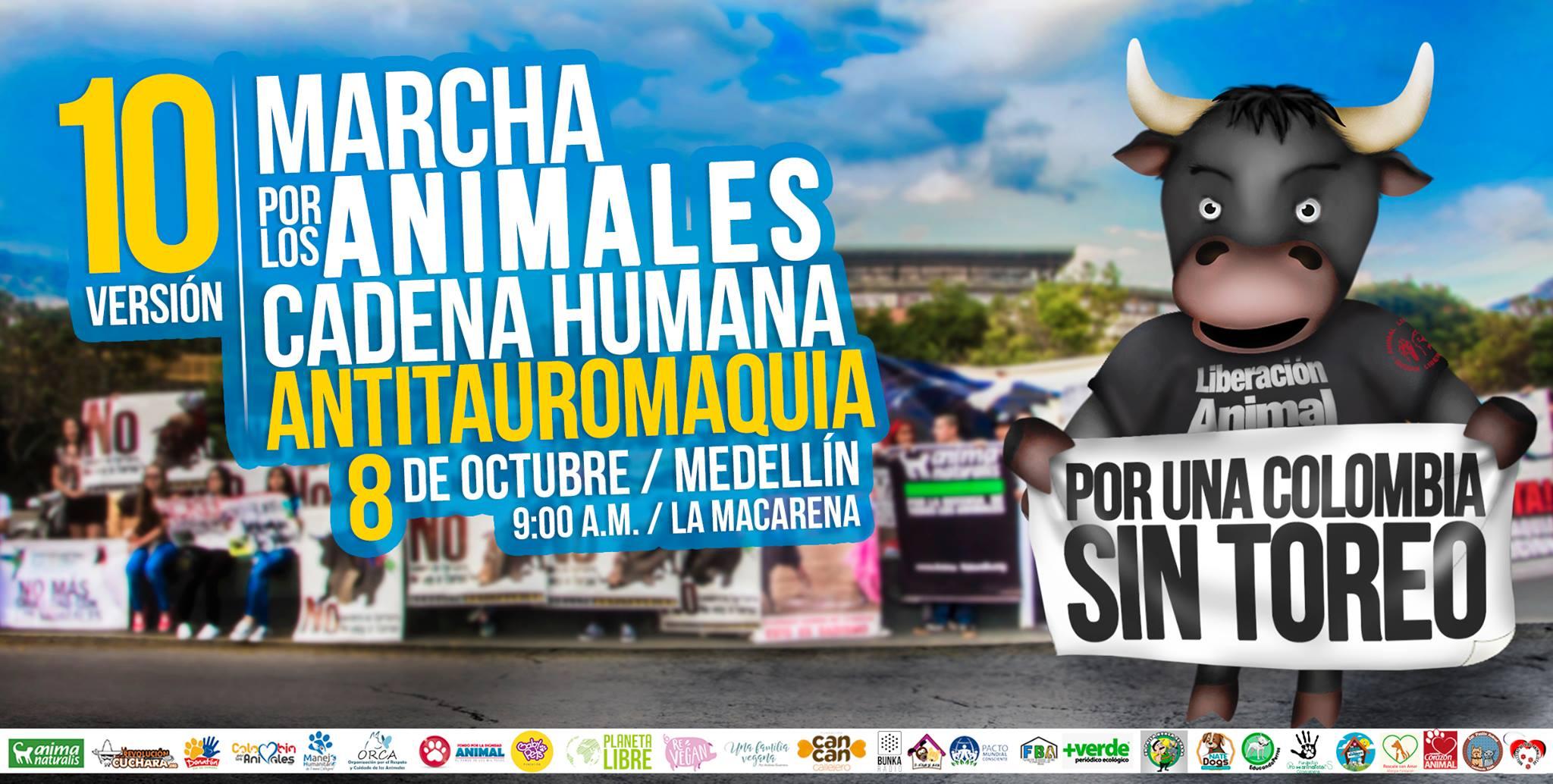 Medellín marchará por los animales el próximo 8 de octubre