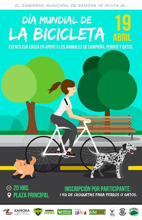 """AnimaNaturalis presente para festejar el """" Día Mundial de la Bicicleta"""" con causa"""