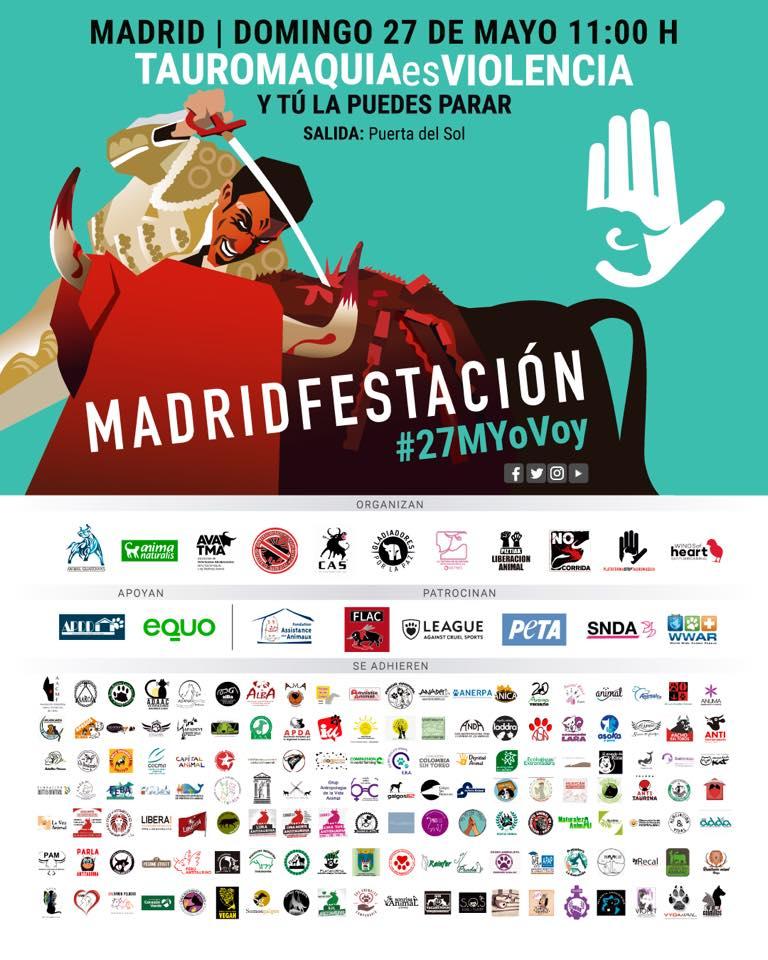 Manifestación en Madrid Tauromaquia Es Violencia