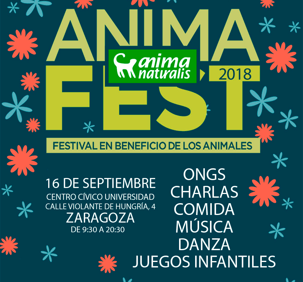 AnimaNaturalis organiza su AnimaFest 2018 en Zaragoza