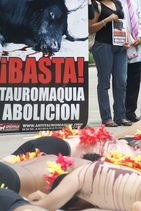 Acto en la piel del toro en Medellín