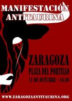 Próxima manifestación antitaurina en Zaragoza