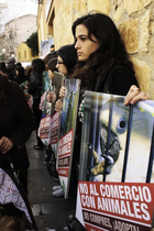AnimaNaturalis protestó contra el comercio de animales en Mallorca