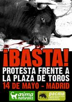 Acto de protesta en Madrid contra la tauromaquia