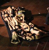 Con arte corporal AnimaNaturalis rechazó el uso de piel animal