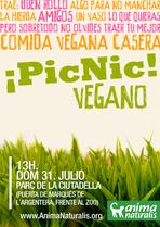 Picnic vegano en Barcelona