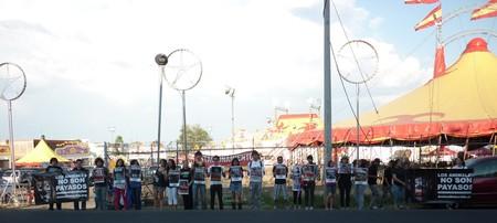 AnimaNaturalis protestó contra Circo Aurelio Atayde en Michoacán