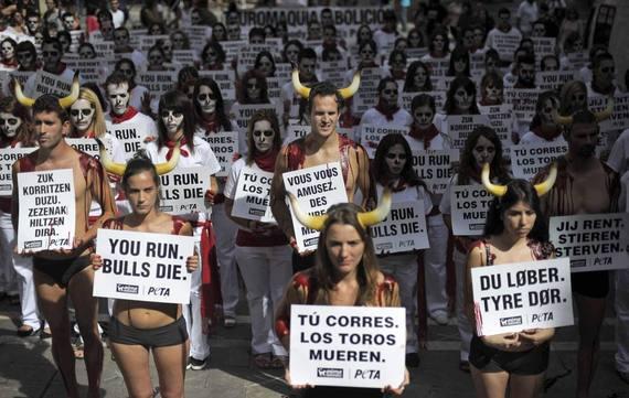 Más de 150 personas contra la tauromaquia en Sanfermines