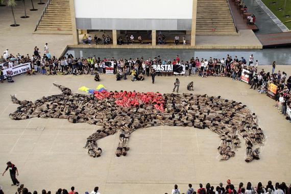 AnimaNaturalis realiza impactante acto masivo contra la tauromaquia en Colombia