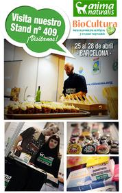 AnimaNaturalis en BioCultura                                      Barcelona. ¡Ven a visitarnos!