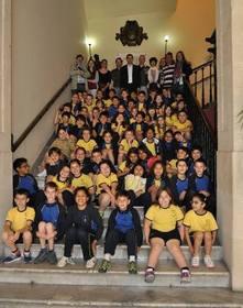 Estudiantes 3º y 4º primaria del Colegio Carmelitas