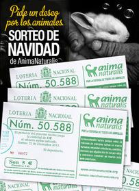 Lotería                                              de Navidad de                                              AnimaNaturalis. ¡Pide un                                              deseo por los animales!