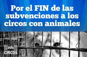 ¡Firma por el fin de las subvenciones públicas a los circos con animales!